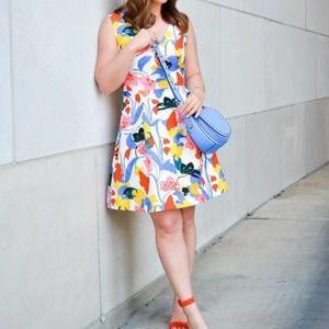 J. Crew V Neck A-line Dress in Morning Floral 8